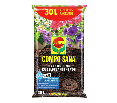 COMPO SANA Balkon- und Kübelpflanzenerde, 30 l