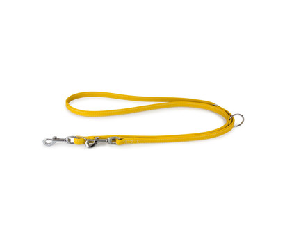 Das Lederband Führleine Style Barcelona Vibrant-Yellow