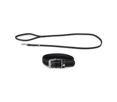 Das Lederband Halsband/Leinen-Set Olivvia Barcelona Black
