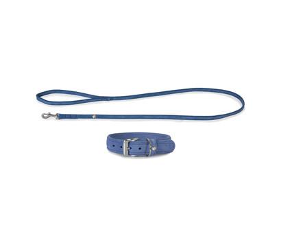 Das Lederband Halsband/Leinen-Set Style Toronto Jeans