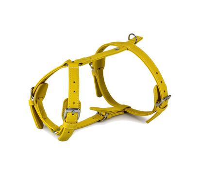 Das Lederband Hundegeschirr Style Barcelona Vibrant-Yellow