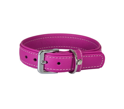 Das Lederband Hundehalsband Style Barcelona Rose-Violet