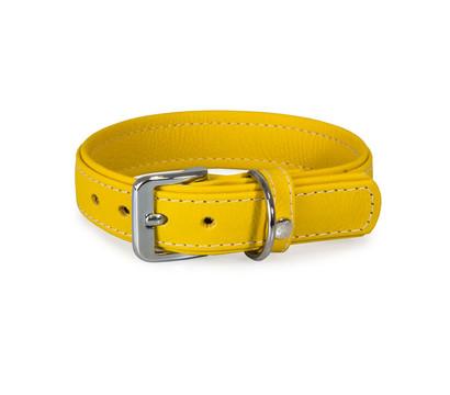 Das Lederband Hundehalsband Style Barcelona Vibrant-Yellow