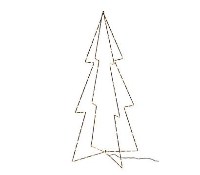 Dehner 3D LED-Baum aus Metall, 45,5 x 91 x 2 cm