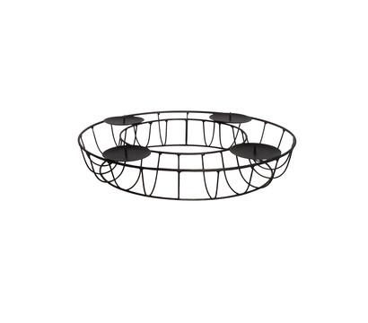 Dehner Adventskranz aus Metall, Ø 35 x 7 cm