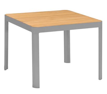 dehner aluminium teaktisch 95 x 95 cm dehner garten center. Black Bedroom Furniture Sets. Home Design Ideas