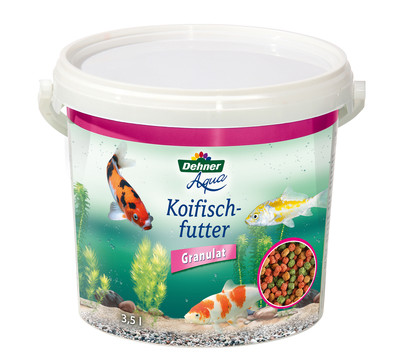 Dehner Aqua Koifischfutter Granulat, 3,5 l