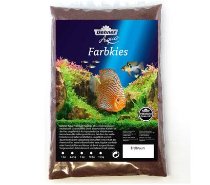 Dehner Aqua Premium Farbkies Erdbraun, 0,4-0,8 mm