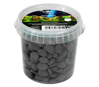 Dehner Aqua Premium Naturkies Black Sambia, 13-15 mm