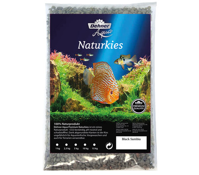 Dehner Aqua Premium Naturkies Black Sambia, 3-5 mm