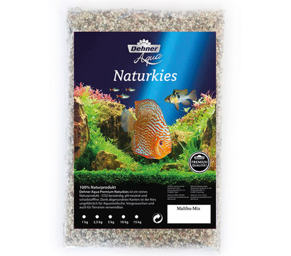 Dehner Aqua Premium Naturkies Malibu, 2-3 mm, 15 kg