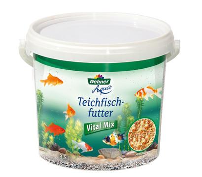 Dehner Aqua Teich-Fischfutter Vital Mix, Fischfutter, 3,5 l