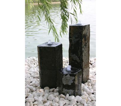 Dehner basalt gartenbrunnen 57 x 33 cm dehner garten for Deko gartenbrunnen