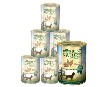 Dehner Best Nature für Hunde, Adult, Nassfutter, 6 x 400g/800g