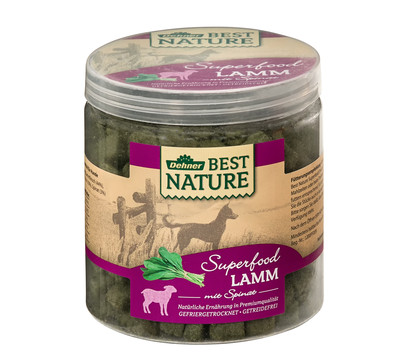 Dehner Best Nature Hundesnack Superfood Lamm mit Spinat