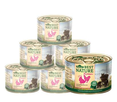 Dehner Best Nature Kitten, Nassfutter, 6 x 200g/400g
