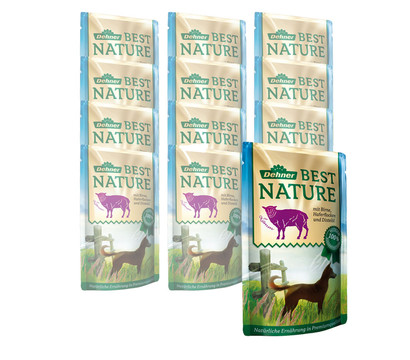 Dehner Best Nature Nassfutter Adult, 12x150 g