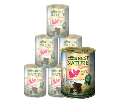 Dehner Best Nature Nassfutter Kitten, 6x200 g/400 g