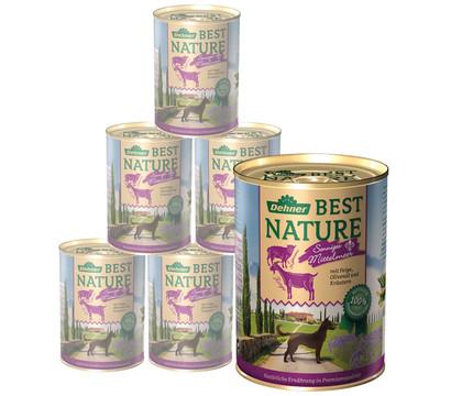 Dehner Best Nature Nassfutter Mittelmeer, Ziege & Lamm, 6x400 g/800 g