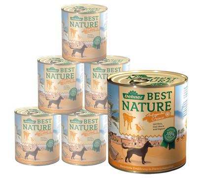 Dehner Best Nature Nassfutter Orient, Kalb & Wachtel, 6x400 g/800 g