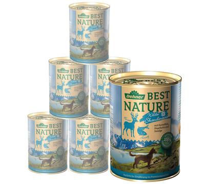 Dehner Best Nature Nassfutter Skandinavien, Rentier & Hering, 6x400 g/800 g
