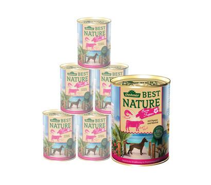 Dehner Best Nature Nassfutter Tropen, Angus Rind & Shrimps, 6x400 g/800 g