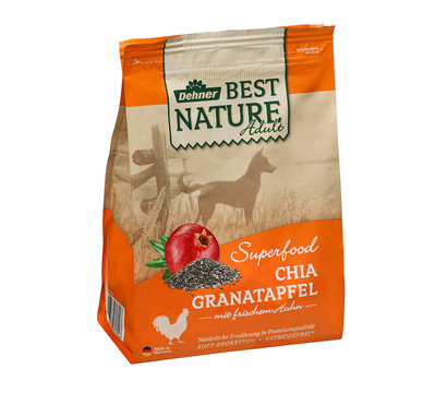 Dehner Best Nature Trockenfutter Adult Superfood Chia Granatapfel