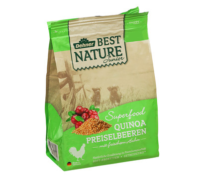 Dehner Best Nature Trockenfutter Junior Superfood Quinoa Preiselbeeren