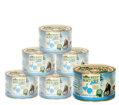 Dehner Best Nature Wintermenü, Gans & Truthahn, Nassfutter, 6x200g/400g