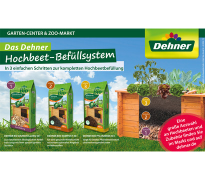 dehner bio hochbeet pflanzerde 40 liter dehner garten center. Black Bedroom Furniture Sets. Home Design Ideas