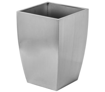 Dehner Edelstahl-Blumentopf, eckig, silber