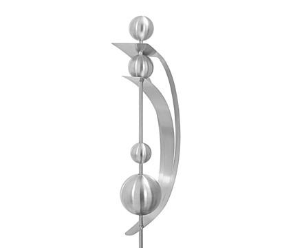 Dehner Edelstahl-Skulptur Impeto, ca. B18/H73/T10 cm, silber