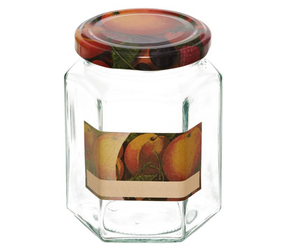Dehner Einkochglas, 6-eckig, 287 ml, 6 Stk.