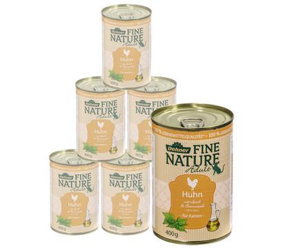 Dehner Fine Nature Adult Huhn, Nassfutter, 6 x 200g/400g