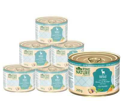 Dehner Fine Nature Nassfutter Adult, Wild, 6x200 g/400 g/800 g