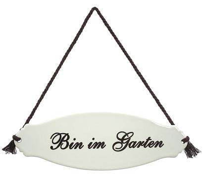 Dehner Gartenschild 'Bin im Garten'
