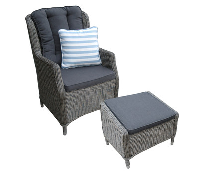 dehner geflechtsessel harvard mit hocker dehner garten. Black Bedroom Furniture Sets. Home Design Ideas