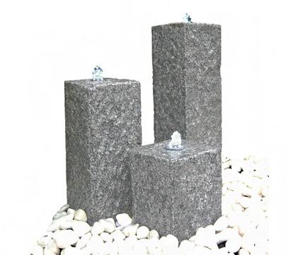 Dehner granit gartenbrunnen nizza 56 x 56 x 77 cm for Deko gartenbrunnen