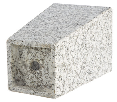 dehner granit topf konisch grau 30 x 30 x 49 cm. Black Bedroom Furniture Sets. Home Design Ideas