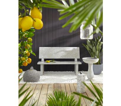 Dehner Granit-Gartenbank mit Lehne, 120 cm