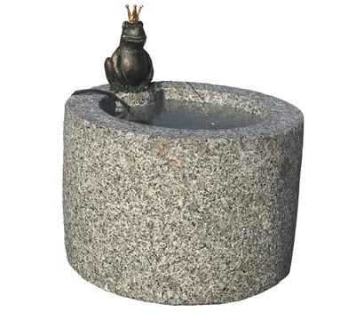 Dehner Granit-Gartenbrunnen Froschkönig, ca. Ø45/H45 cm