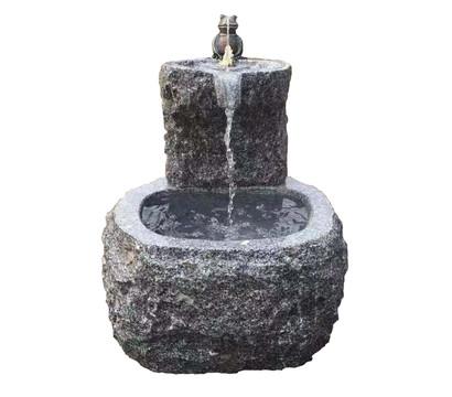 Dehner Granit-Gartenbrunnen Froschkönig, ca. Ø50/H55 cm