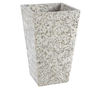 Dehner Granit-Topf, konisch, grau, 30 x 30 x 49 cm