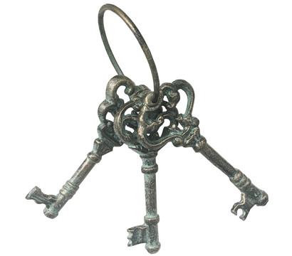 Dehner Gusseisen Schlüssel Antik, 8 x 6,5 x 21,5 cm