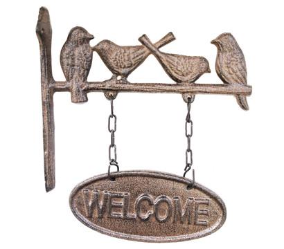 Dehner Gusseisen-Schild Welcome