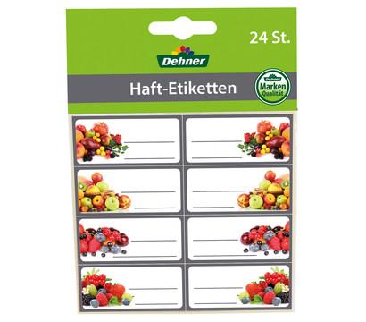 Dehner Haft-Etiketten Frucht, 24 Stück