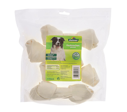Dehner Hundesnack Kauknochen geknotet, 4 Stück