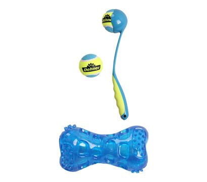 Dehner Hundespielzeug Set Ballschleuder Hurly S & Flash Bone