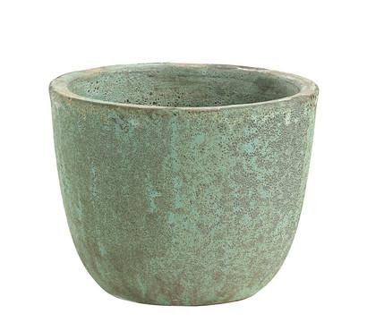 Dehner Keramik-Topf, blau-grün