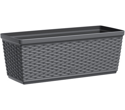 Dehner Kunststoff-Flechtkasten, granit